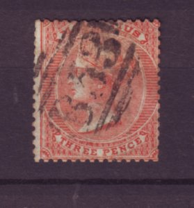 J21956 Jlstamps 1863-72 mauritius used #34 queen wmk 1