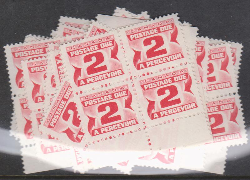 Canada - 2c Red Postage Due X 100 mint #J29