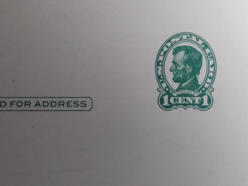 SCOTT # UX28 MINT LINCOLN GREEN BUFF NEVER HINGED CLEAN POST CARD!!  1917 !!!