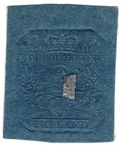 (I.B) George III Revenue : Ireland Impressed Duty 5/-