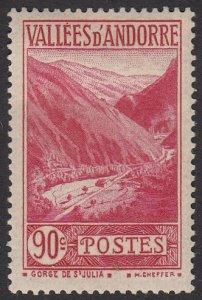 French Andorra 47 MLH CV $6.25