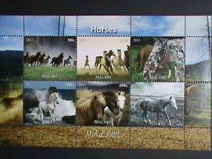 Malawi Stamp:2011-Beautiful Horses MNH Stamp sheet-#2
