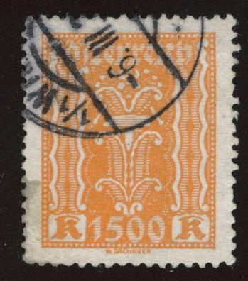 Austria Scott 283 Used stamp from 1922-24 set