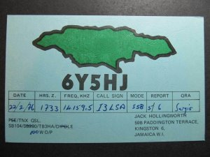 9952 Amateur Radio QSL Card KINGSTON JAMAICA
