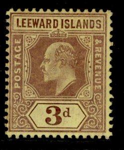 LEEWARD ISLANDS SG41, 3d purple/yellow, M MINT.