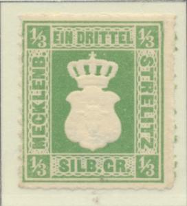 Mecklenburg-Strelitz Stamp Scott #2, Unused, No Gum - Free U.S. Shipping, Fre...
