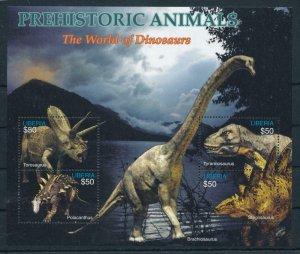 [107159] Liberia 2005 Prehistoric animals dinosaurs Sheet MNH