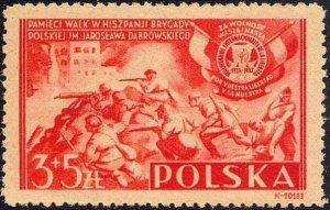 Poland 1946 MNH Stamps Scott B43 Poles in Civil War in Spain Soldiers
