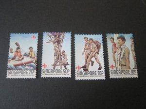 Singapore 1982 Sc 404-7 Scout set MNH