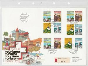 Switzerland Large Prestige 1987 200 Years of Tourism Stamp Cover Ref 26269