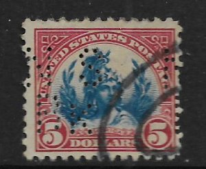 US 573  USED  PIERFIN HEAD OF FREEDOM ISSUE