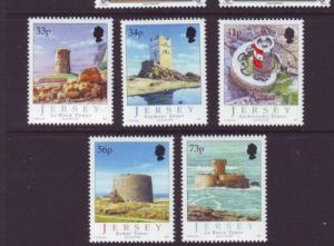 Jersey Sc 1178-82 2005 Martello Towers stamp set mint NH