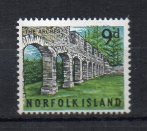 NORFOLK ISLAND - THE ARCHES - 1964 - 9d -