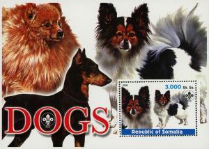 Somalia Dog Pet Domestic Animal Souvenir Sheet Mint NH