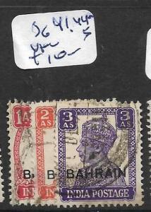 BAHRAIN (P0902B) KGVI ON INDIA  SG 41, 44-5   VFU