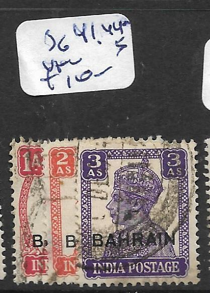 BAHRAIN (P0902B) KGVI ON INDIA  SG 41, 44-5   VFU