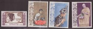 LAOS Scott 223-225, C84 MNH** Tropical disturbed gum set 1971