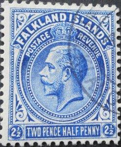Falkland Islands 1912 GV 2½d SG 63 used