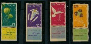 ISRAEL 1952 NEW YEAR SET WITH TABS MNH