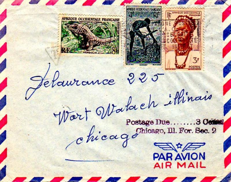 French West Africa 1957 Postal History