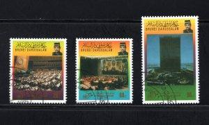 Brunei, Scott 484-486   VF,  Used, CV $3.75 .....0980104