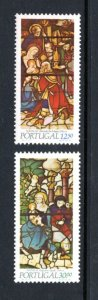 PORTUGAL 1583-4 MNH VF Christmas - stained glass window - Complete set