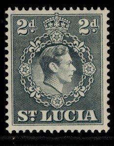 ST. LUCIA GVI SG131, 2d grey, M MINT.