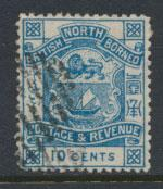 North Borneo  SG 44b dull blue   Used   please see scans & details