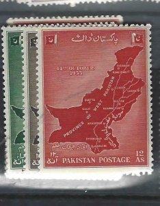 PAKISTAN   (P2007B)  MAP  SG 84-6  MNH