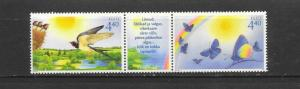 BIRDS & BUTTERFLIES - ESTONIA #514  MNH