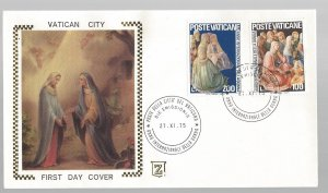Vatican, 588-89, Int'l Womens Year First Day Cover (FDC), Used