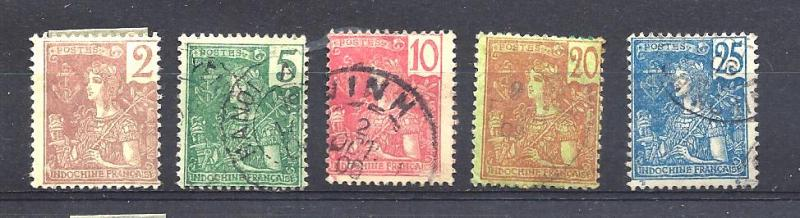 Indochina Scott # 25, 27, 28, 30 & 31 used