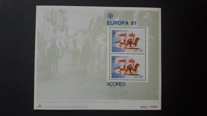 Europa CEPT - Portugal / Acores 1981. ** MNH Block