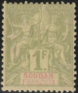 French Sudan #19 Never Hinged 25% of SCV $12 **FREE SHIPPING**