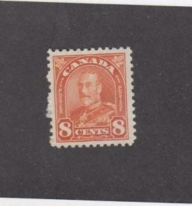 CANADA (MK1580) # 172 VF-MLH  8cts 1930 KGV ARCH/LEAF /RED ORANGE CAT VALUE $12