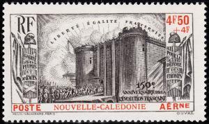 New Caledonia Scott CB1 (1939) Mint H VF, CV $34.00 B