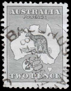 Australia Scott 3, Gray (1913) Used F-VF, CV $10.00 M