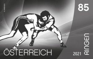 Stamps Austria 2021. - Sport und Boden - Ringen Black Print.
