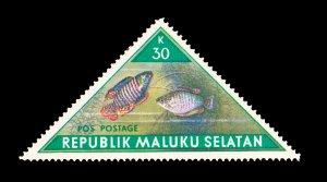 REPUBLIC OF SOUTH MALUKU STAMP. TOPIC: FISH. UNUSED. ITEM 30K