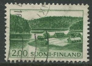 Finland - Scott 414 - Farm on Lake Shore -1963- Used - Single 2m Stamp