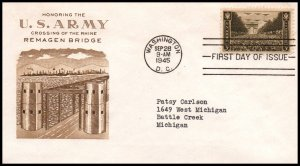 US 934 Army Grimsland Typed FDC
