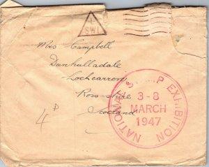 London SW1 > Lochcarron Scotland huge National Stamp Exhibition stamp 1947