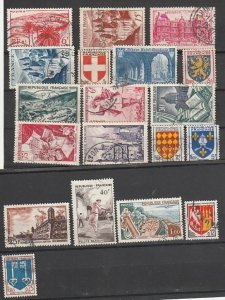 France Used lot of 19 #190817-2