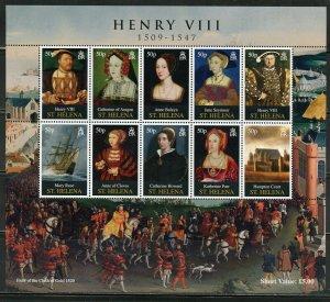 ST. HELENA  HENRY VIII  SCOTT #977 SHEET MINT NH