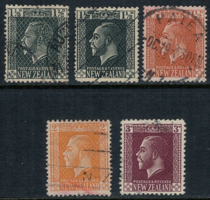 New Zealand #160-4  CV $4.35