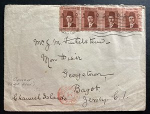 1940 Cairo Egypt Censored Cover To Bagot Jersey Channel Island England