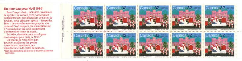 Canada - 1985 Christmas Stamp Value Pack Booklet #BK90