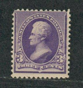 US Sc#221 M/NH/F, OG, Cv. $175