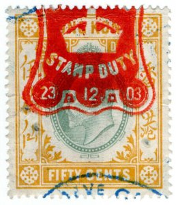 (I.B) Hong Kong Revenue : Stamp Duty 50c