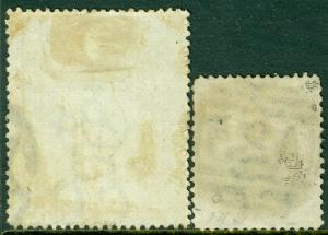 EDW1949SELL : MALTA 1880-99 Sc #3c (Orange Yellow) & #17 Both VF Used. Cat $125.